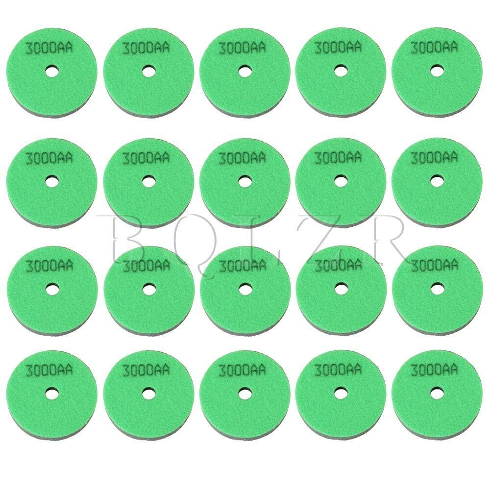 3 Inch Sponge Polishing Pad for Diamond 3000 Grit Set of 20 Light Green - intl