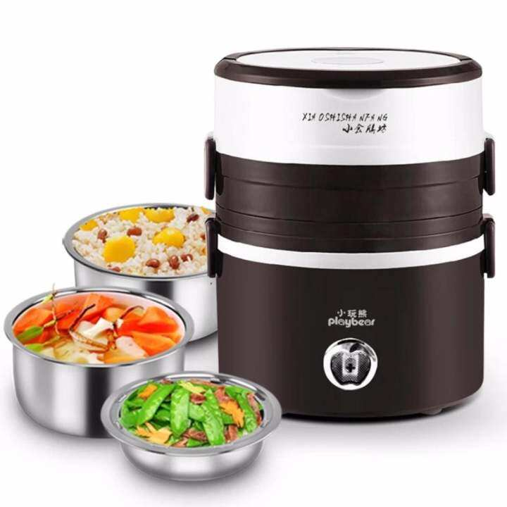 3 Layers Rice Cooker Baby Food Warmer Mini Rice Cooker