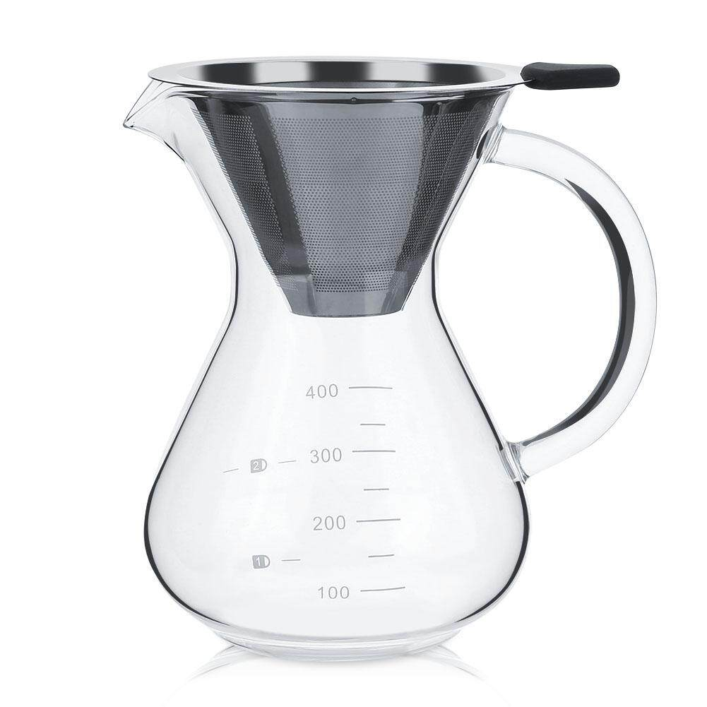 Buy 400Ml Glass Hand Drip Coffee Maker Filter Pot With Scale Intl