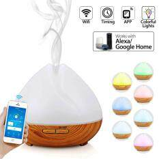 400ml WiFi Smart Diffuser Aroma Humidifier APP LED With Amazon Alexa Google Home UK Plug