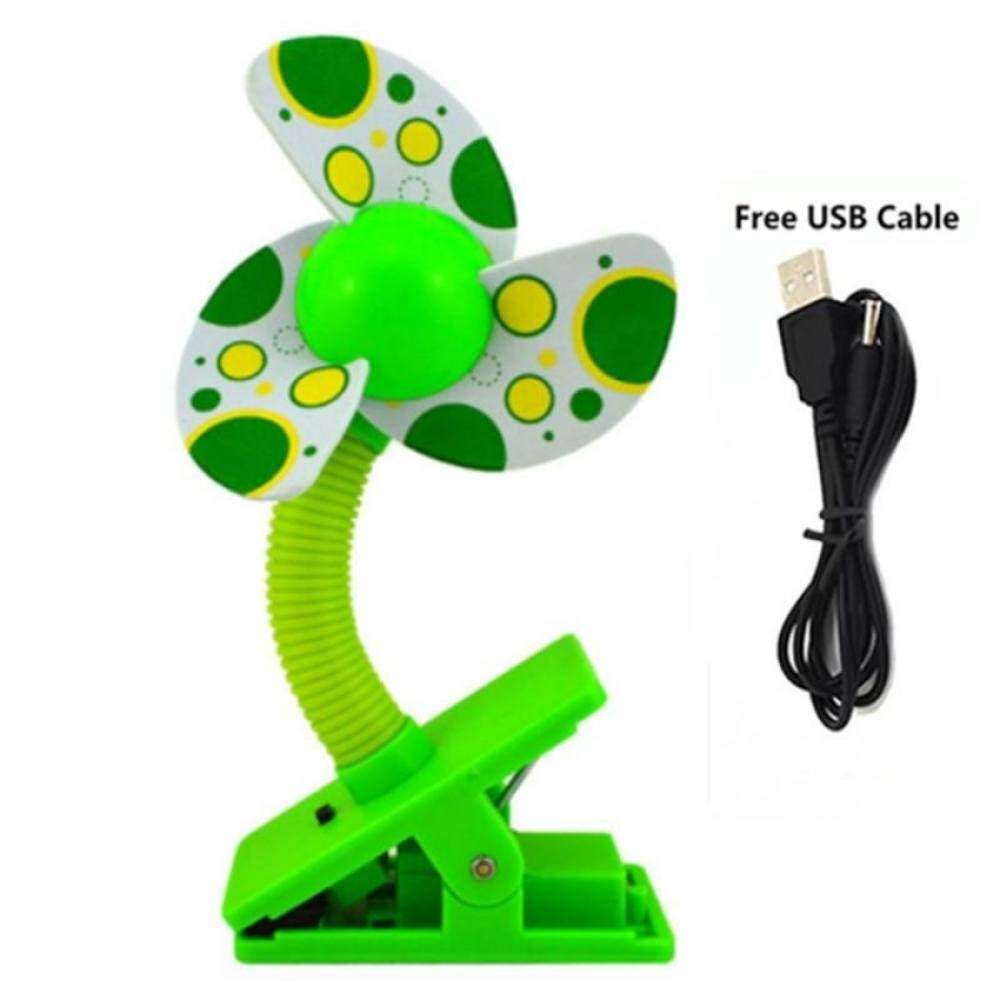 4ever 1pcs Baby Prams Cots USB Battery Clip Fan Mini Clip-onFanBaby Stroller Accessories Safety Fan (Green) Singapore