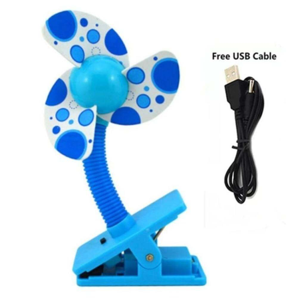 4ever 1pcs Baby Prams Cots USB Battery Clip Fan Mini Clip-onFanBaby Stroller Accessories Safety Fan (Blue) Singapore