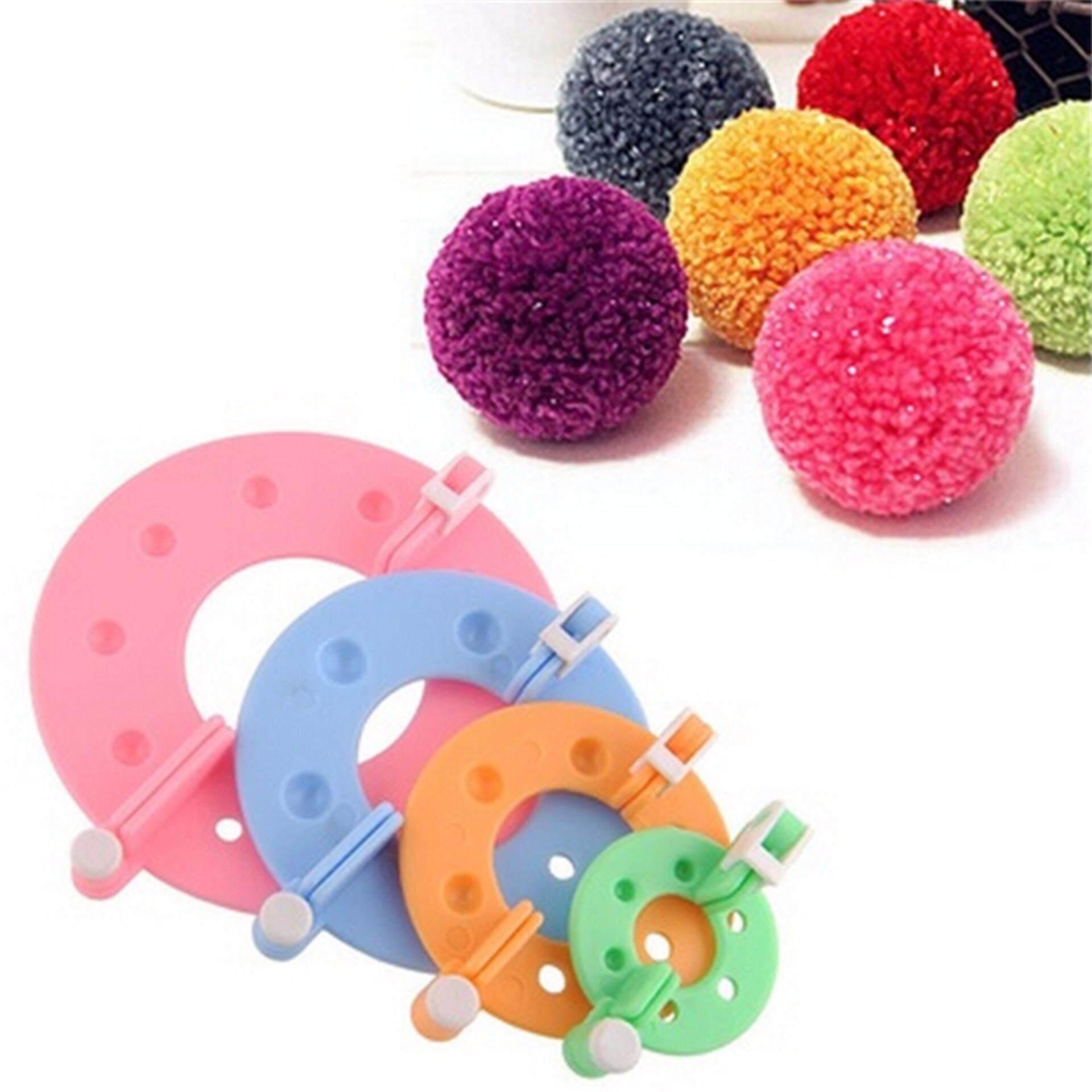 8pc DIY Fluff Ball Weaver Needle Craft Knitting Loom Essential Pompom Maker Tool Multicolor - intl