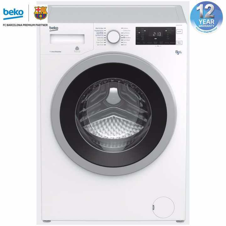 beko prosmart inverter 8kg 5kg front load wdx8543130w automatic washing machine washer dryer. Black Bedroom Furniture Sets. Home Design Ideas