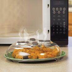 Belle Magnet Splatter Guard Microwave Hover Anti-Sputtering Cover With Steam Vent