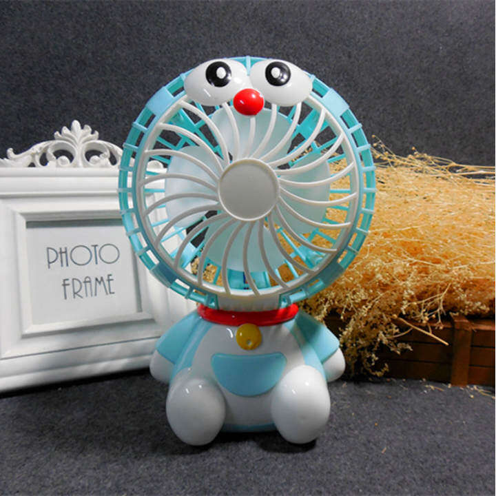 Blue large desktop Student Dormitory small fan mini electric fan