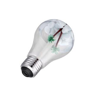 BolehDeals 400ml Colorful Light Creative Bulb Humidifier Aroma Diffuser Silver Lamp Cap