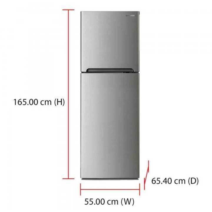 Daewoo Fridge FGT330ENG (262L) Tempered Glass Shelves