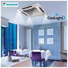 Daikin 4 0hp Eco King Ceiling Cassette Type Air Conditioner With Cool Light Function Fcn40fv1 Rn40dy1 Panel Bcfl2b5 R410a Non Inverter Surround
