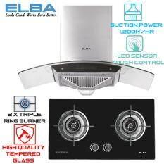 Elba Egh F8582g Bk 2 Burner Hob Aria Eh A9023st