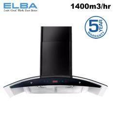 Elba Eh E9165st Bk Kitchen Chimney Cooker Hood 1400m3 Black