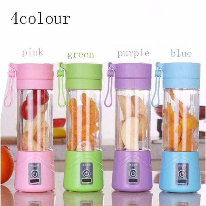 ... Electric Fruit Vegetable Juicer Machine Mini Portable USB Rechargeable Smoothie Maker Blender Shake And Take Juice