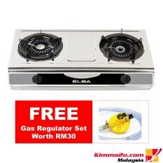 Free Gas Regulator Elba Stainless Steel 2 Burner Cooker Egs F7112