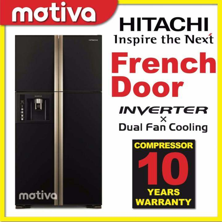 hitachi french door inverter refrigerator r w750fpmx gbk. Black Bedroom Furniture Sets. Home Design Ideas