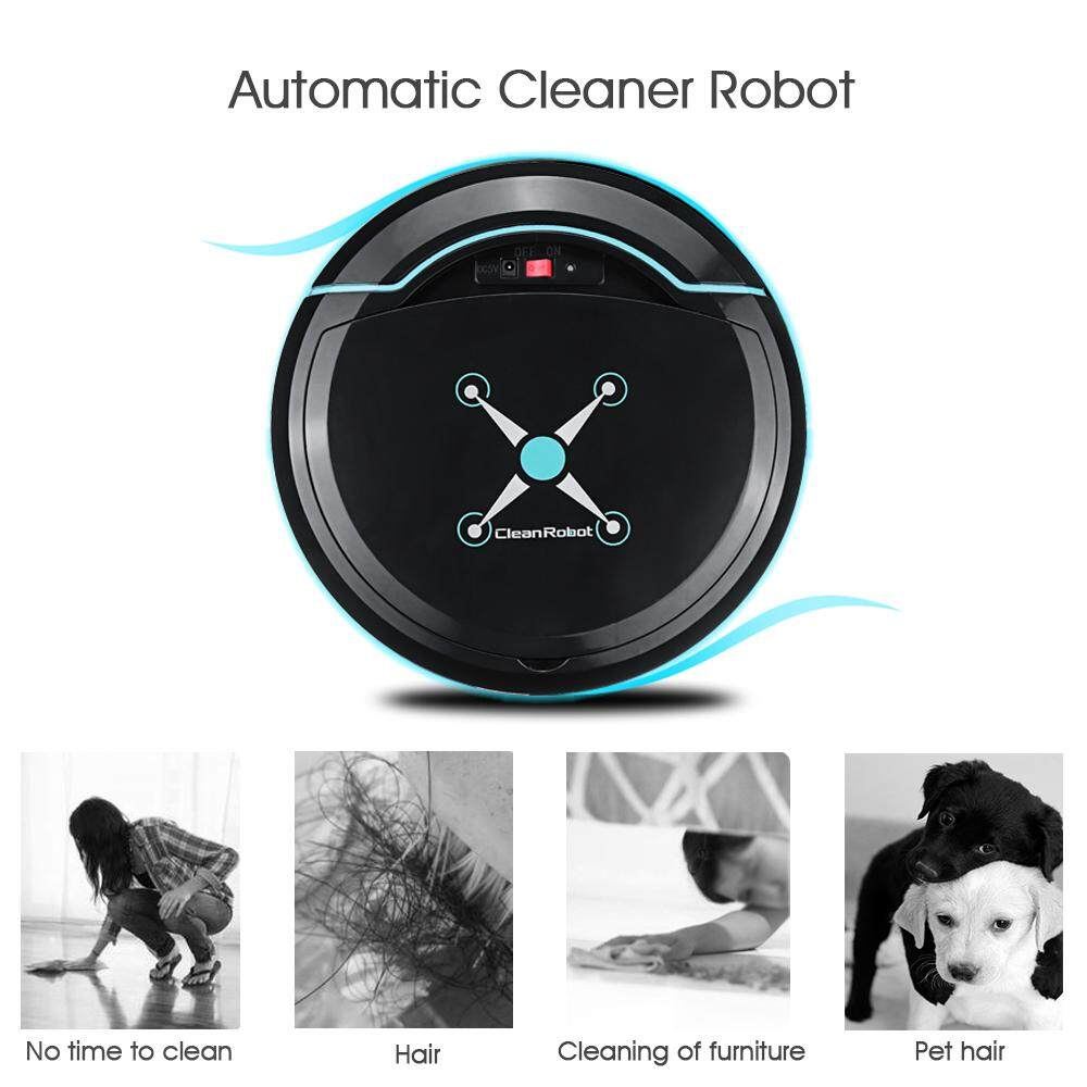 Discount Holmark Automatic Rechargeable Smart Robot Vacuum Floor Cleaner Sweeping Machine Black Intl