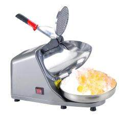 Ice Shaver Machine Snow Cone Maker Shaved Icee 143lbs Electric Crusher Shaving 110V Grey
