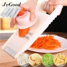 Jvgood Multifunction Vegetable Chopper Dicer Slicer Shredder Grater Cutter Manual Vegetable Chopper Onion And Fruit Cutter Peeler Tools With 6 Stainless Steel Blades By Jvgood.