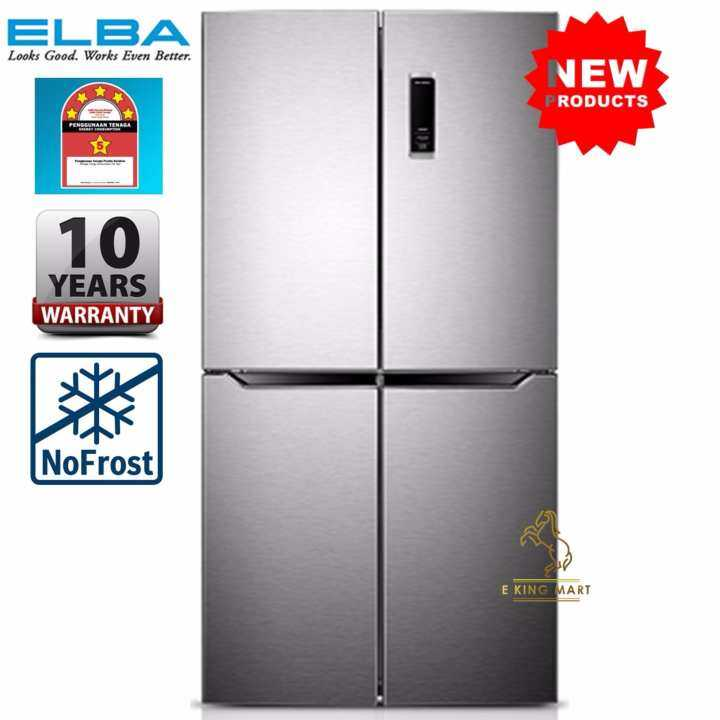 [LATEST MODAL] Elba 5 Star Energy Save 520Litre 4 Door*French Door Refrigerator/Fridge EMR-G5244D(SV)