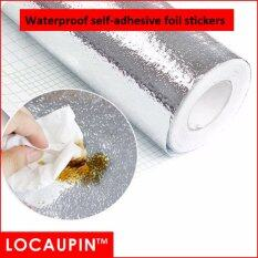 Locaupin Home Decor Kitchen Waterproof Aluminum Film Sticker (60 X 300cm) By Locaupin Official Store.