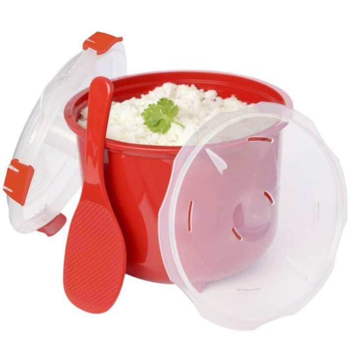 High Quality Microwave Rice Cooker Steamer with Spoon