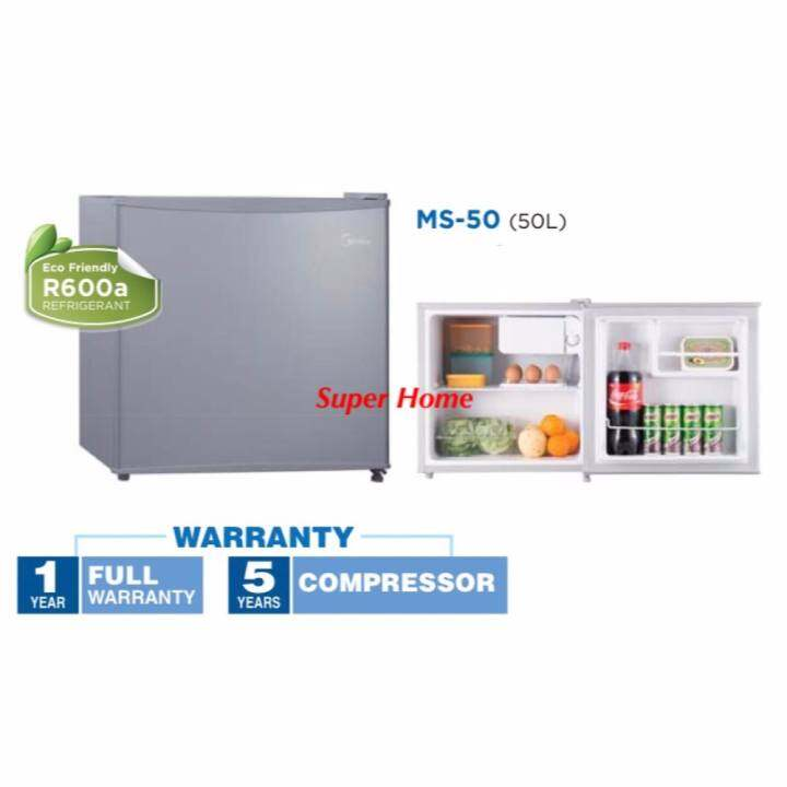 Midea Mini Bar Refrigerator MS-50 (50L) - Silver