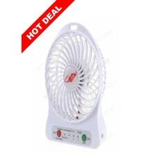 Mini Rechargeable Usb Portable Cooler Fan 3 Speeds By Scarlett Electrical.