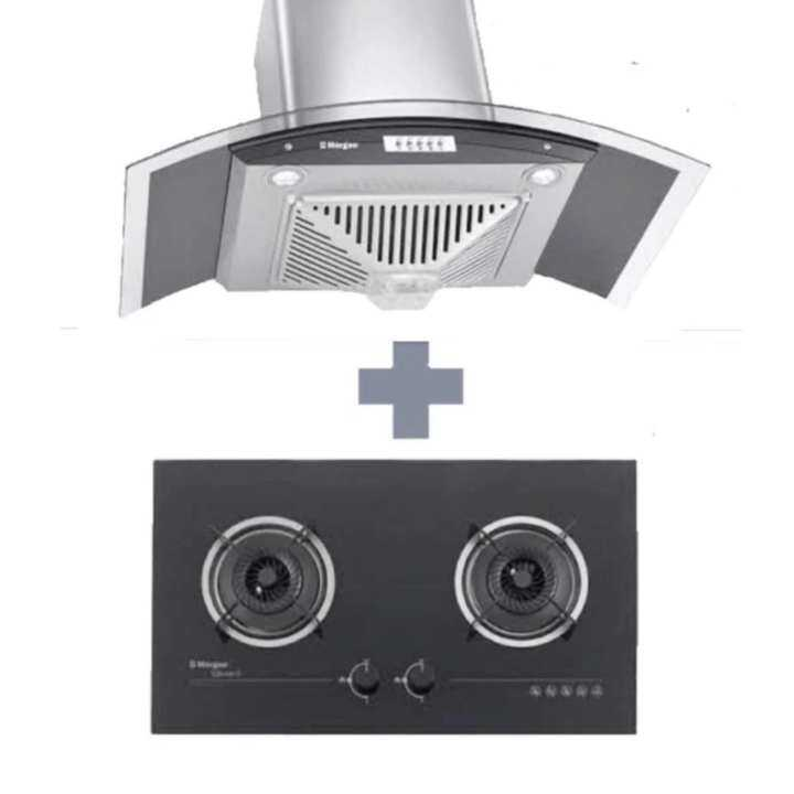 Morgan Designer Cooker Hood MDH-922OC + Built In Cooker Hob MBH-GC1142BK