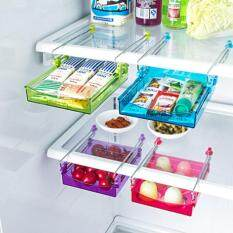Multipurpose Fridge Storage Sliding Drawer Freezer Storage Shelf Refrigerator Organizer Space Saver Shelf Set of 2