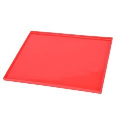 Non-Stick Silicone Oven Mat Cake Roll Mat Baking Mat Functional Baking Pad Bakeware Red.