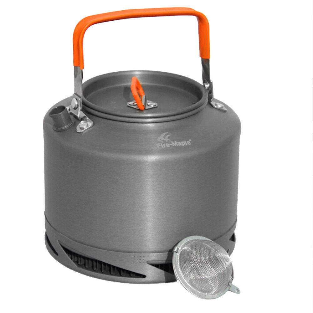 Portable Aluminium Anodized 1.5L Fire Maple FMC-XT2 Pengumpul Panas Ketel Teh Portabel Cangkir Kopi Teh Outdoor Alat Masak Piknik Kemah Tas Jaring Tali