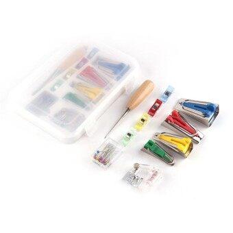 GFW Portable Bias Tape Makers Kit Binder Binding Snap On Foot Bias Tape  Maker Awl Pin With Box Set