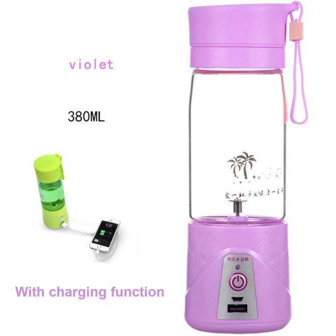 Portable USB Rechargeable Electric Fruit Juicer Machine Smoothie Maker Blender Shake And Take Juice Slow Juicer