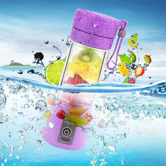 UINN 380ml USB Electric Fruit Juicer Handheld Smoothie Maker Blender Juice Cup Purple