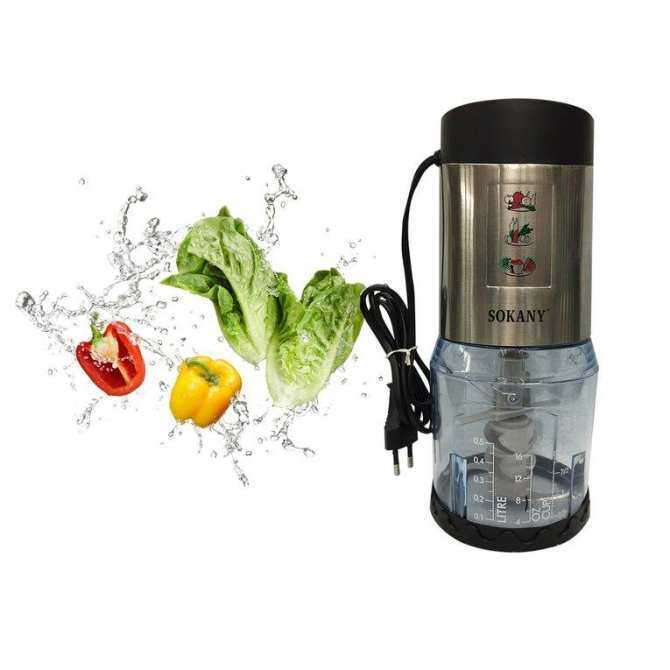 UINN SKY-200 Multifunctional Electric Mixer Meat Grinder Juicer Household Blender Black & silver