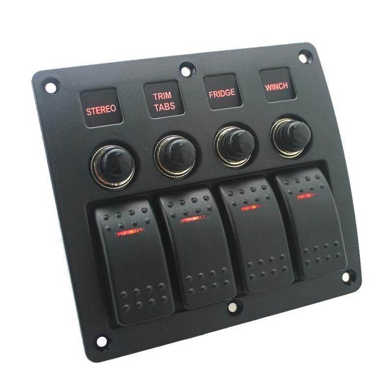 YUESHUNBUHA 勿动!! 3 Gang / 4 Gang/ 5 Gang Circuit LED Rocker Switch Panel for Car Marine Boat 3.1A Dual USB Waterproof Power Charger Socket DIY Refit Kit - intl Singapore