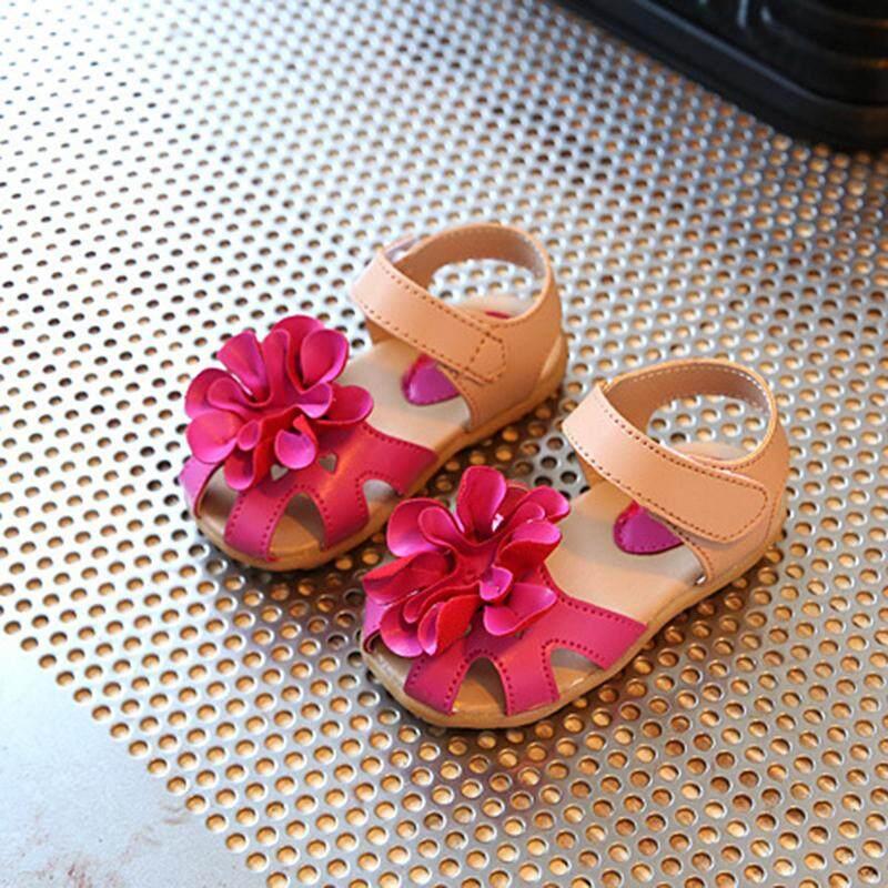 Giá bán ❤️Cutiebaby Mới Trẻ Tập Đi Cho Bé Gái Mùa Hè Trẻ Em Họa Tiết Hoa Giày Sandal Trẻ Em Prewalker Giày