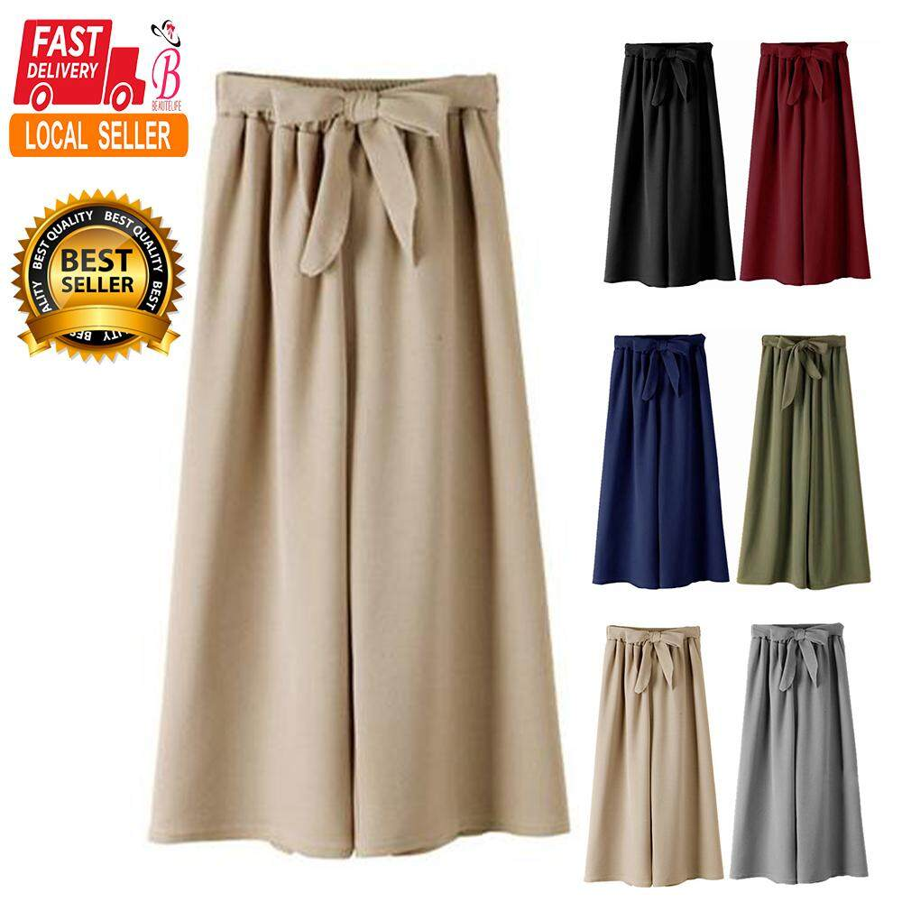 Women Bowknot Oversize Wide Leg Pants By Beautelife.