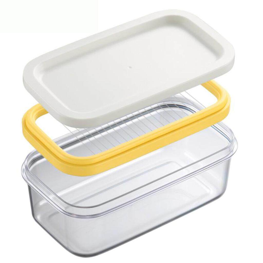 Dolity Plastic Butter Dish Tray Holder Kitchen Fridge Storage With Cutter Slicer By Dolity.
