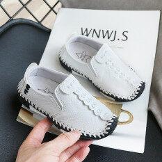 2020 Giảm Giá Thời Trang Giày Thể Thao Thời Trang Trẻ Em Trẻ Lớn Cô Gái Chàng Trai Giày Da Mềm Căn Hộ Giản Dị