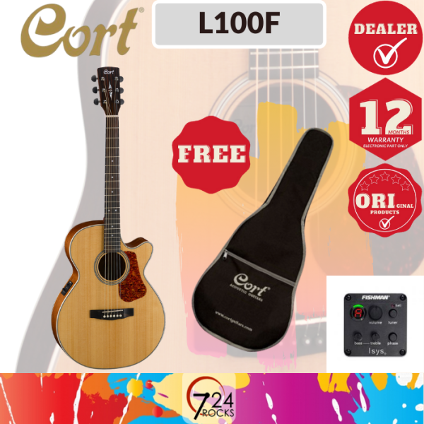 724 ROCKS Cort L100F Luce Series Acoustic Electric Guitar ( L-100F L 100F ) Malaysia