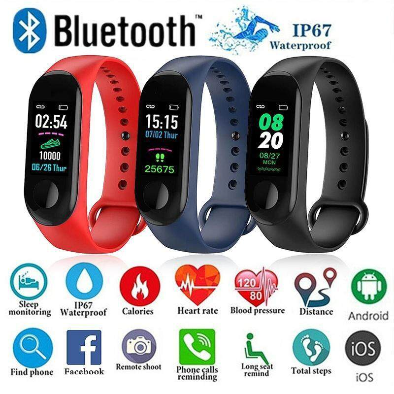 ef0d16572  READY STOCK M3 Sport Watch Touch Screen Smart Watch IP68 Waterproof  Fitness Tracker Heart