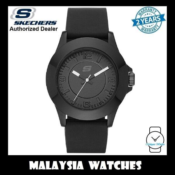 (OFFICIAL WARRANTY) Skechers SR6024 Rosencrans Mid-Size Quartz Analog Full Black Silicone Strap Watch (2 Years Warranty) Malaysia