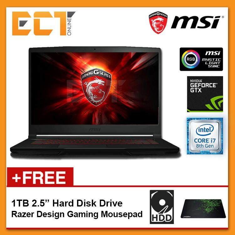 MSI GF63 8RCS-050 Gaming Laptop (i7-8750H 4.10GHz,256GB,4GB,GTX1050-4G,15.6 FHD,W10P) Malaysia