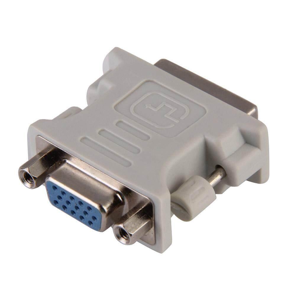 DVI DVI-I Pria 24 + 5 Pin untuk Perempuan Vfa Konverter Video Adaptor M/F LCD HDTV