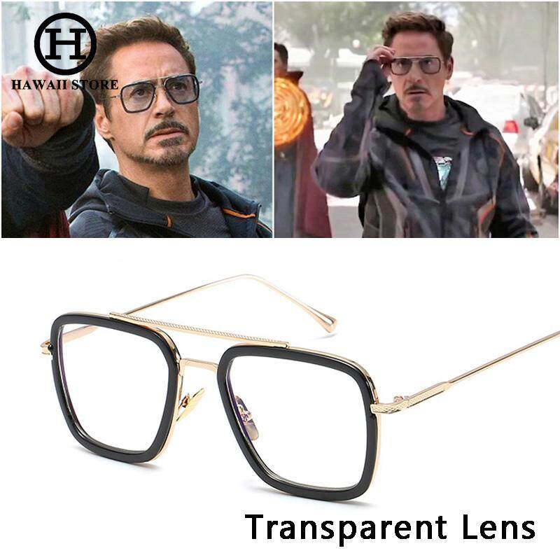 Hawaii Collection Fashion Avengers Tony Stark Flight 006 Style Sunglasses Men Square Aviation Brand Design Sun Glasses By Hawaii Store.
