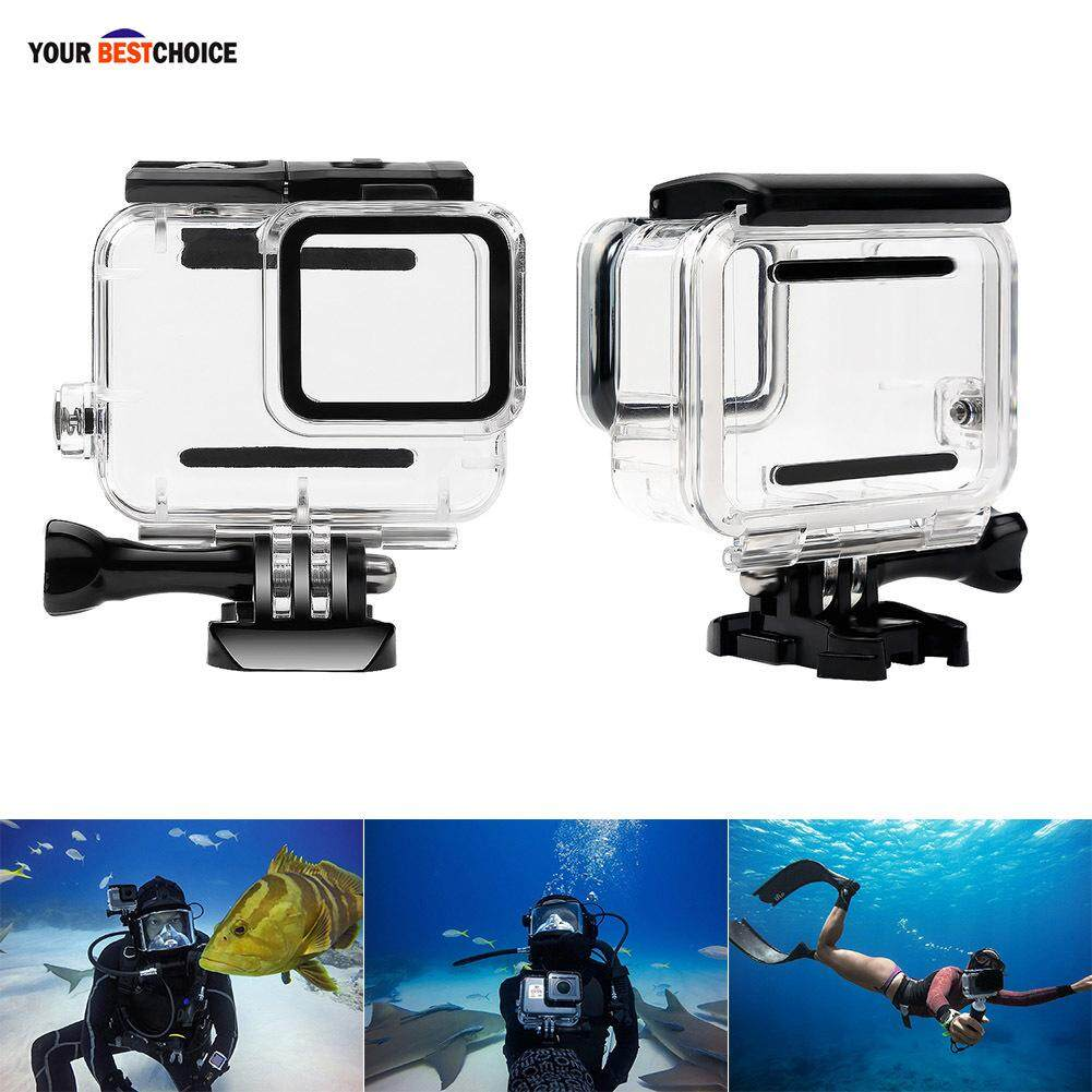 Ybc Waterproof Diving Housing Case Cover Lens Removal For Gopro Hero 7 Silver/white By Your Bestchoice.