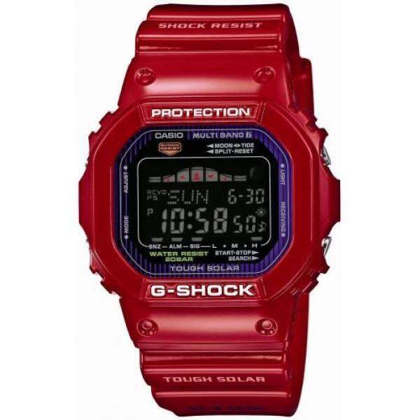 [Casio] Jam Tangan G Shock G-LIDE Radio Suria GWX-5600C-4JF Merah Malaysia