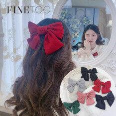Nơ kẹp tóc dành cho nữ nơ 2 lớp xin xắn ngọt ngào phong cách Hàn Quốc FINE TOO