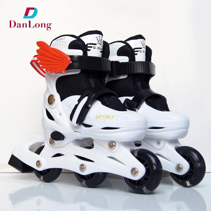 Phân phối Roller Skate Flash Roller Skating 2-6 Years Old Adjustable Roller XS=23-28 S=28-34