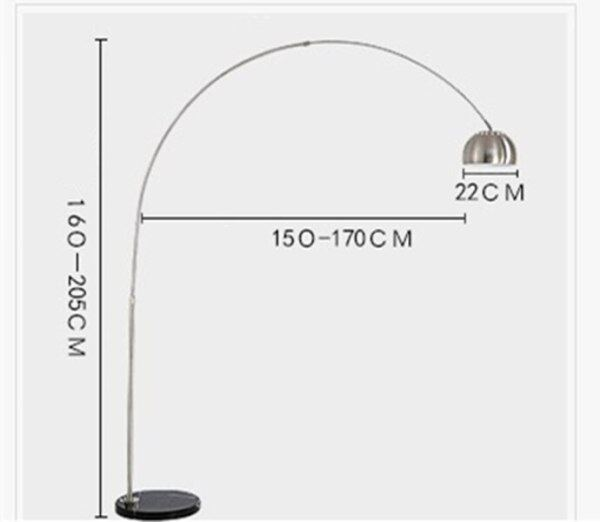 Fishing Floor Lamp Big Floor Light Stainless Steel Good Quality Different Sizes E27 Italy Design Hotel Project Lighting